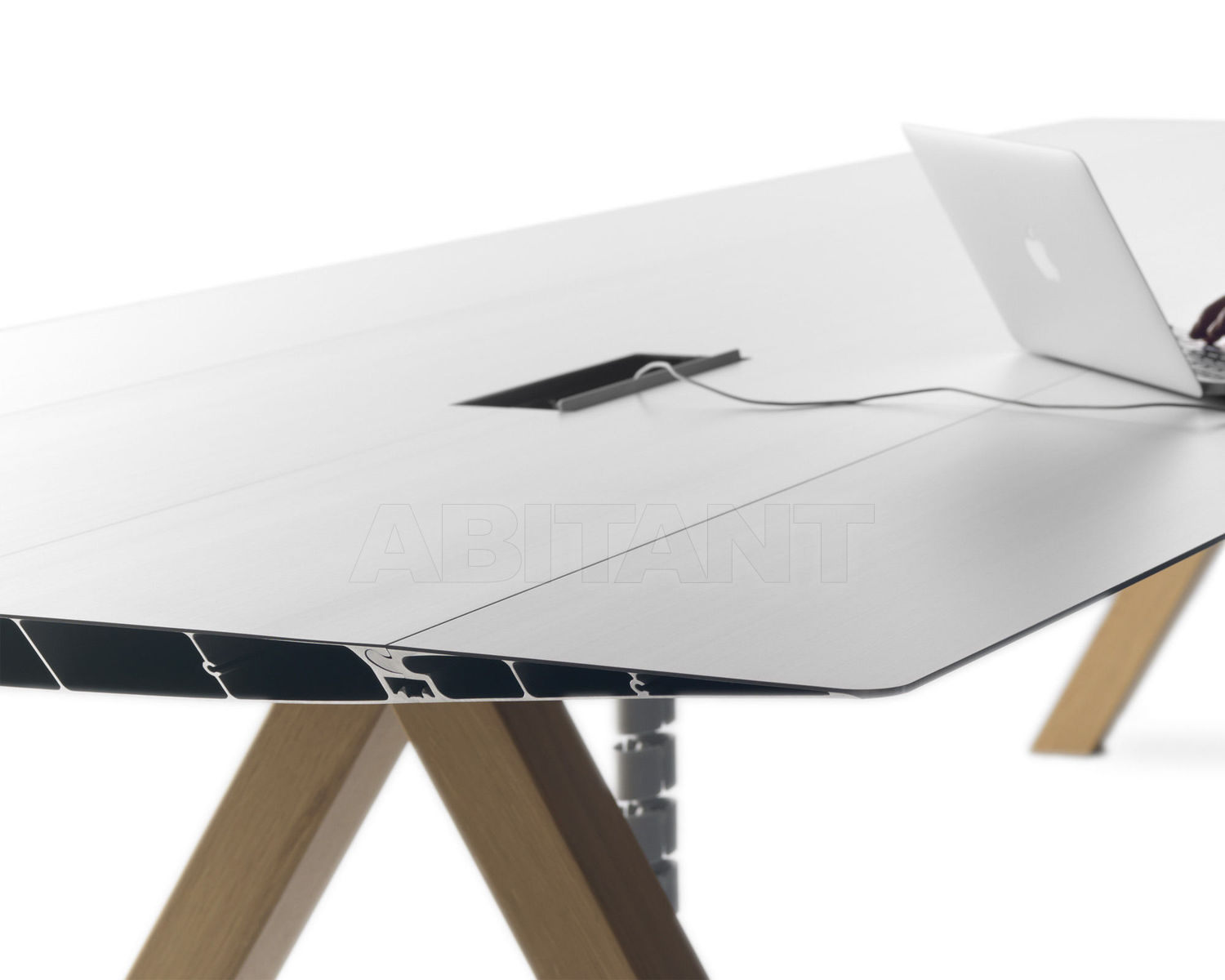 Conference Table TABLE B B.D (Barcelona Design) TABLES ELECTRIC CABLE  MANAGEMENT