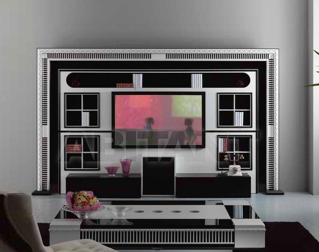 Modular system silver Vismara Design THE WALL - HOME CINEMA ART DECO ...