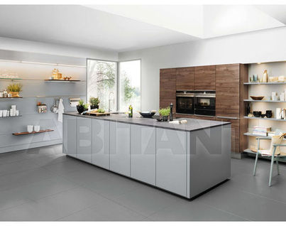 Kitchen Fixtures Nolte Kuechen MODERN KITCHENS Artwood Walnut Royal/ Feel  Papyrus Grey