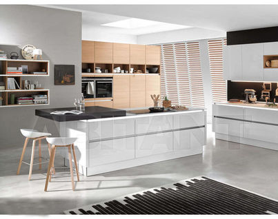 AuBergewohnlich Kitchen Fixtures Nolte Kuechen MODERN KITCHENS Nova Lack White/ Nature  Cognac Oak