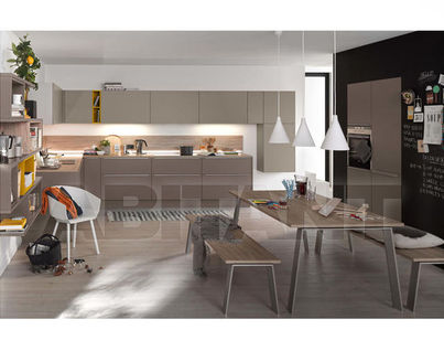 Gut Kitchen Fixtures Nolte Kuechen OPEN PLAN KITCHENS Soft Lack Lava/ Magma