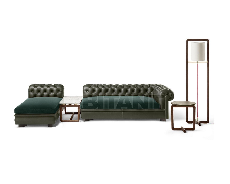 Sofa CHESTER LINE dark green Poltrona Frau 5617221 + 5617146, : Buy ...