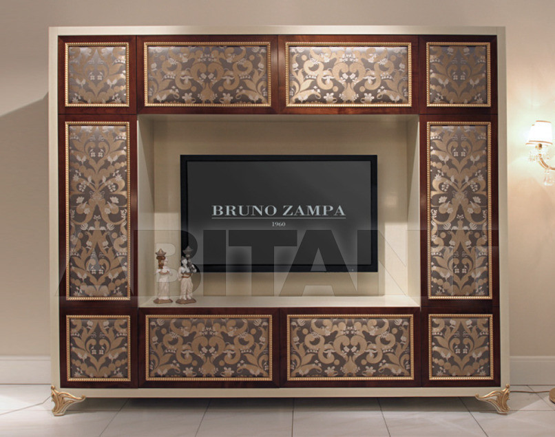Modular system black Bruno Zampa Elliot mobile porta TV, : Buy ...
