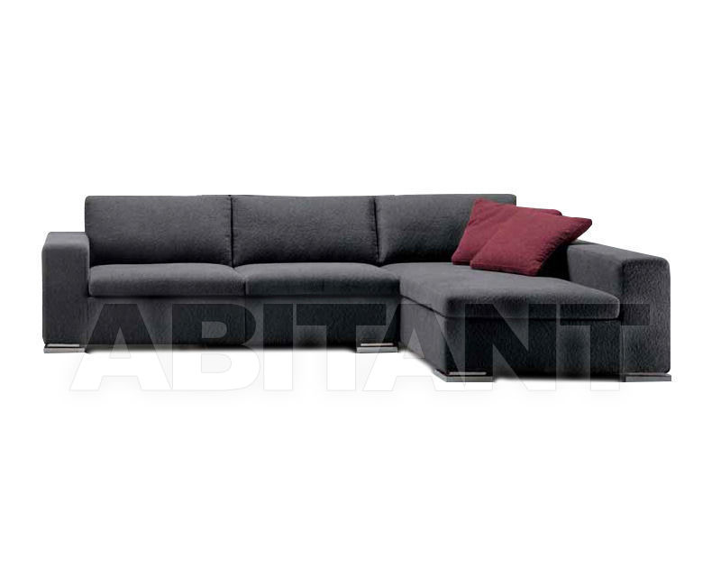 Sofa dark grey Formerin BRANDO Divano terminale/Sofa with 1 arm + ...