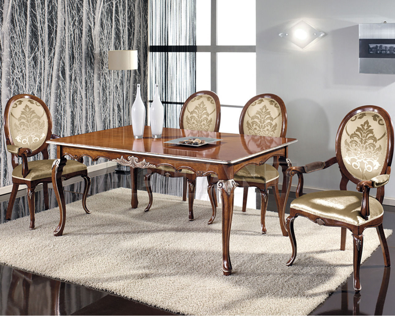 Buy Dining table Seven Sedie Reproductions Coloniali 0311TA02 C1