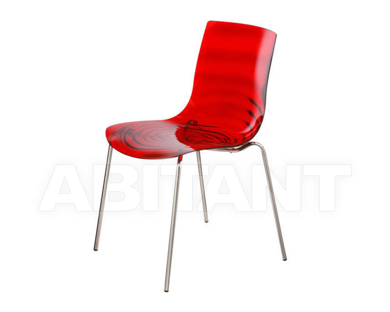 chair l eau red connubia by calligaris cb 1273 a p77 p852